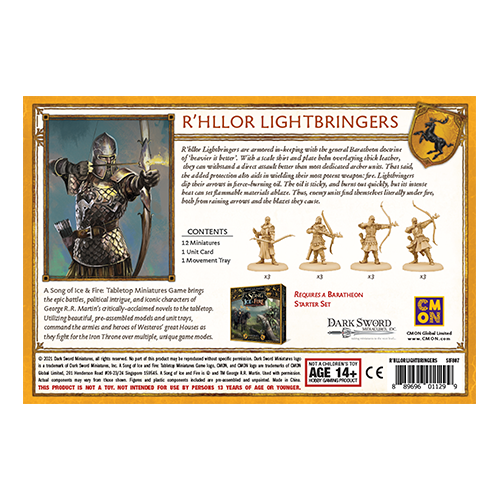 A Song of Ice and Fire: Bratheon R'hllor Lightbringers
