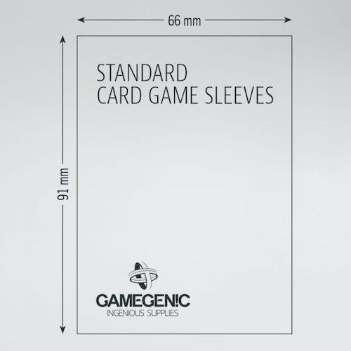 PRIME Standard Card Game Sleeves 66 x 91 mm