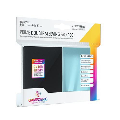 Prime Card Sleeves: Double Sleeving Pack 100 Black