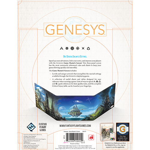 Genesys: Game Master's Screen