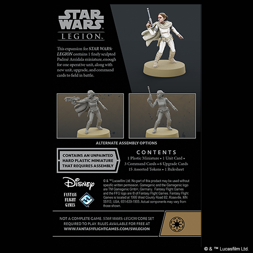 Star Wars legion: Padme Amidala Operative Expansion