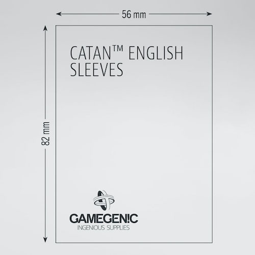MATTE Catan-Sized Sleeves 56 x 82 mm