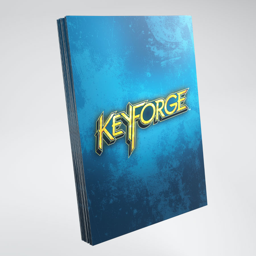 KeyForge Logo Card Sleeves: Blue
