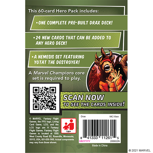 Marvel Champions: Drax Character Pack