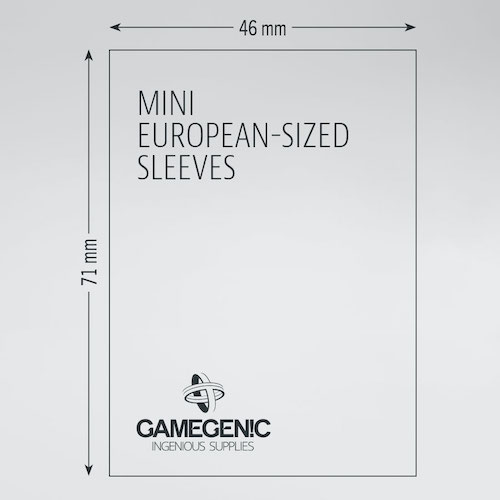 MATTE Mini European-Sized Boardgame Sleeves 46 x 71 mm