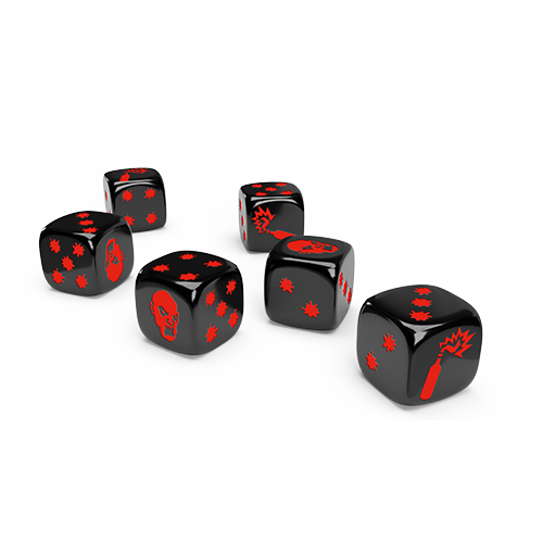 Zombicide 2nd Edition: Special Black and White Dice