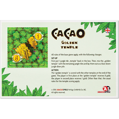 Cacao: Golden Temple Mini Expansion