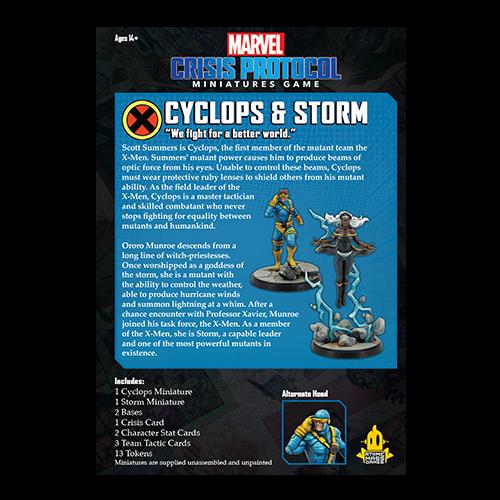Marvel Crisis Protocol: Cyclops & Storm