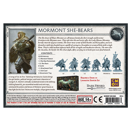 A Song of Ice and Fire: Stark Mormont She-Bears