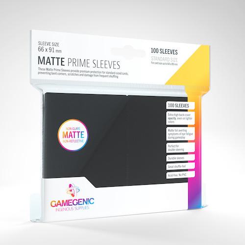 Matte Prime Card Sleeves: Black