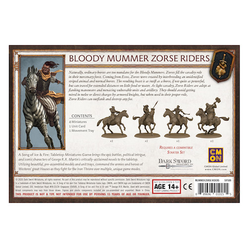 A Song of Ice & Fire: Bloody Mummers Zorse Riders