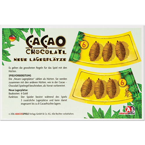 Cacao: Chocolatl - New Storage Places Mini Expansion